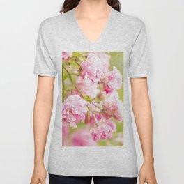 Soft wild roses Unisex V-Neck