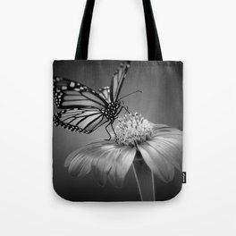 Butterfly B&W Tote Bag