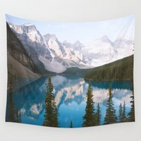 caleb troy Wall Tapestries featuring Lake Moraine Dos by Caleb Troy