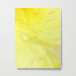 Abstract Yellow Sun by Robert S. Lee Metal Print
