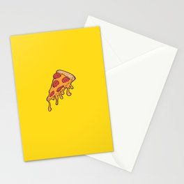 Cheesy Pepperoni Pizza Slice Stationery Cards