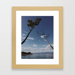 coffe view Framed Art Print