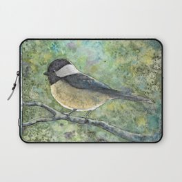 Watercolor Chickadee Laptop Sleeve