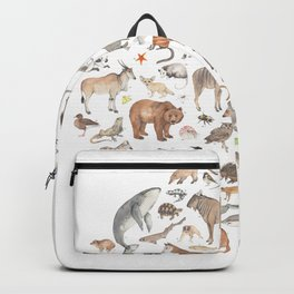 100 animals Backpack