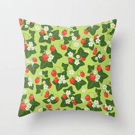 strawberry glade Throw Pillow