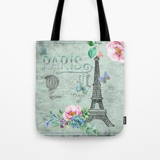 Paris - my love - France Nostalgy- French Vintage Tote Bag