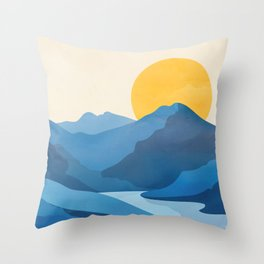 Minimalistic Landscape 10   Throw Pillow