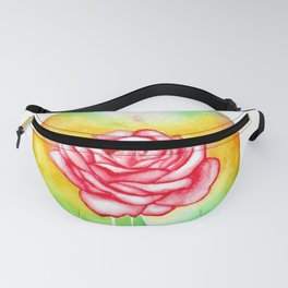 Sensual Rose - Erotic Art Illustration Nude Sex Sexual Love Woman Bodypositive Sexpositive Rainbow Fanny Pack