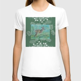 Roe on the spring meadow T-shirt