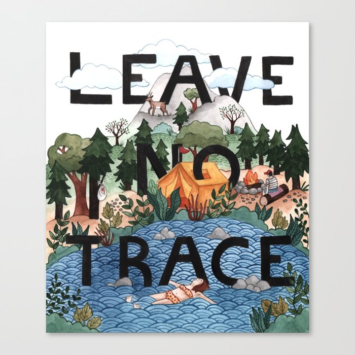 Leave No Trace Canvas Print