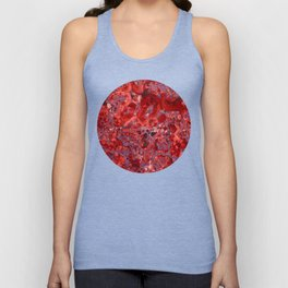 Marble Ruby Sapphire Violet Unisex Tank Top