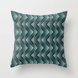 Stylish blue and gray zigzag . Throw Pillow
