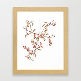 Of red and leaves Framed Art Print