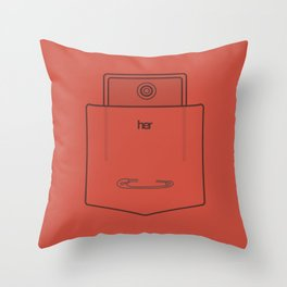 """Her Pocket - From the Movie """"Her"""" Throw Pillow"""
