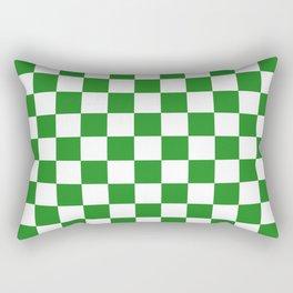 Checker (Forest Green/White) Rectangular Pillow