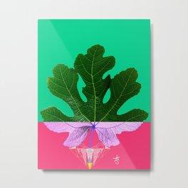 Fig Leaf Diamond Christmas - Other Half and Half Metal Print