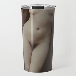 Victorian Vintage Posing Lady Erotic French Nude Postcard Travel Mug
