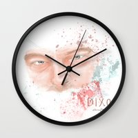 daryl dixon Wall Clocks featuring Daryl Dixon by Caroline.Sweet