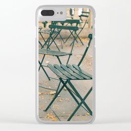 Bryant Park Terrace Sitting Clear iPhone Case