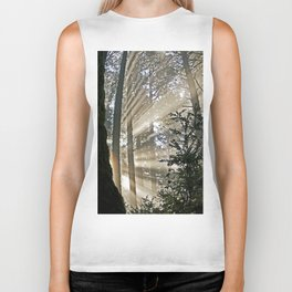 Sunlight Through Trees Biker Tank