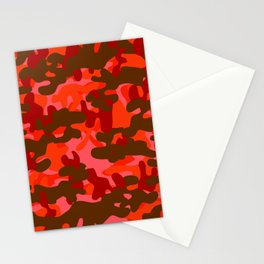 Camouflage (Red) Stationery Cards