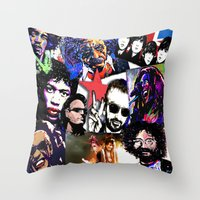 infamous Throw Pillows featuring Infamous by FEENNX