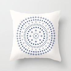 Radial - in Cobalt Throw Pillow