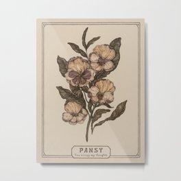 Pansy Metal Print