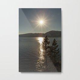 star over the lake Metal Print