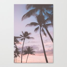 Pastel Palm Trees Canvas Print
