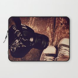 Camera and Converses Laptop Sleeve