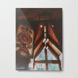 Timber Cabin in Oregon Metal Print