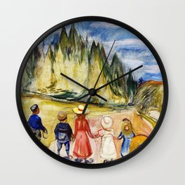 Edvard Munch - The Fairytale Forest - Digital Remastered Edition Wall Clock