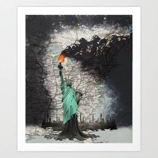 liberty oil Art Print