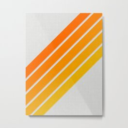 Orange Color Drift Metal Print
