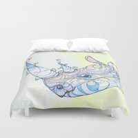 rhino Duvet Covers featuring Rhino by Kate Fitzpatrick
