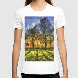 Greenwich Park London Sunset Art T-shirt