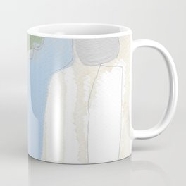 stone by stone 3 - abstract art fresh color turquoise, mint, purple, white, gray Coffee Mug