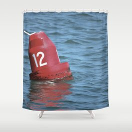 Buoy 12 south Shower Curtain