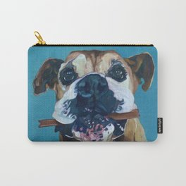 My Happy Abby Boxer Girl Portrait Carry-All Pouch