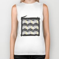 herringbone Biker Tanks featuring Herringbone#1 by ArtLoveHope
