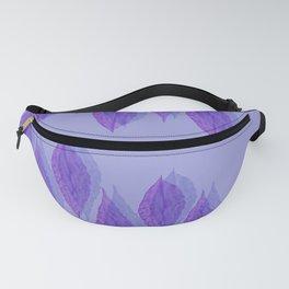 Lilac Leaf Shadow Pattern Fanny Pack