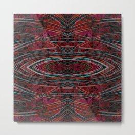 The Reflection- Crimson Bohemian Metal Print