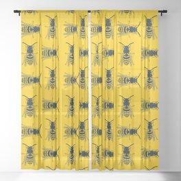 Bee's Yellow Sheer Curtain