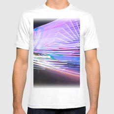 Night Light 66 Mens Fitted Tee MEDIUM White
