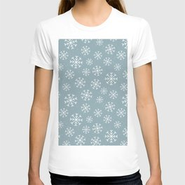 Merry Christmas Wintertime - Snowflakes pattern T-shirt