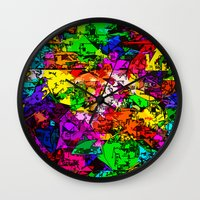 superhero Wall Clocks featuring Superhero Dreamscape by Glanoramay