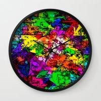 superhero Wall Clocks featuring Superhero Dreamscape by Glanoramay