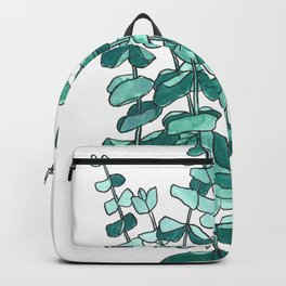 Eucalyptus Branch Watercolor Painting Backpack