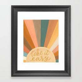 Take It Easy, Sunshine Framed Art Print